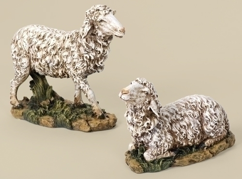 "10.75"" Painted Sheep Fig 2 Ast"