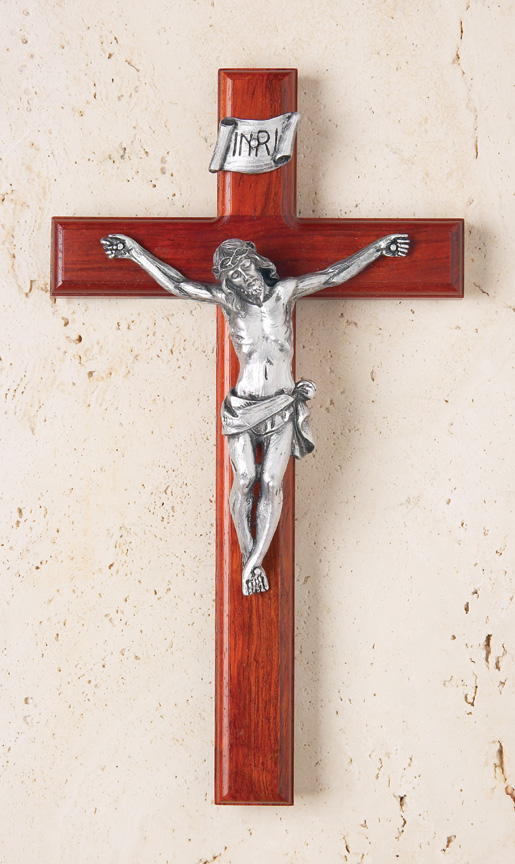 12In. Rosewood Crucifix