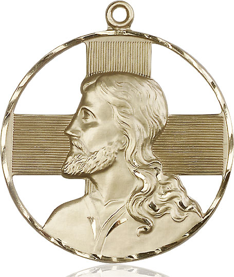 14kt Gold Christ Profile Medal