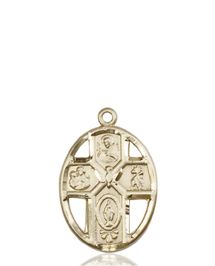 14kt Gold 5-Way / Holy Spirit Medal