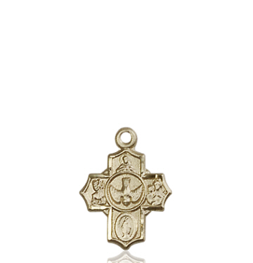 14kt Gold 5-Way Medal