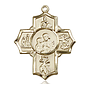 14kt Gold 5-Way Firefighter Medal